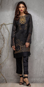 Stitched Organza Jacquard Exclusive Shirt with Embroidered Front (PR-10)