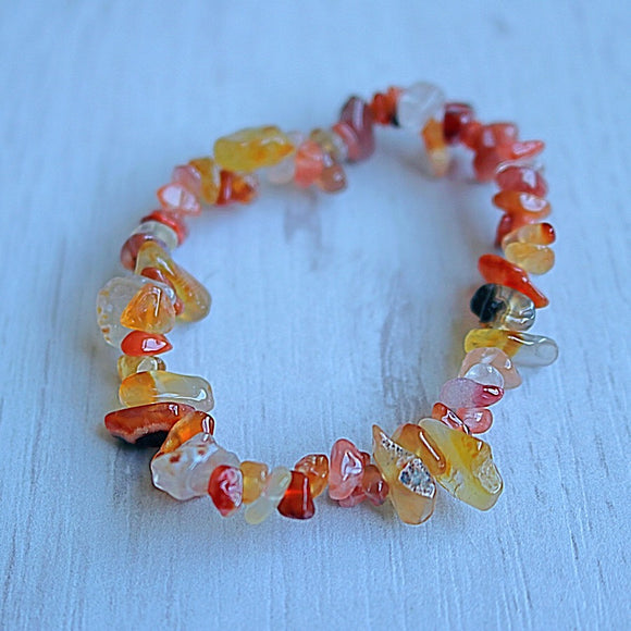 Carnelian Activation Chip Bracelet - little-gems-metaphysical-store