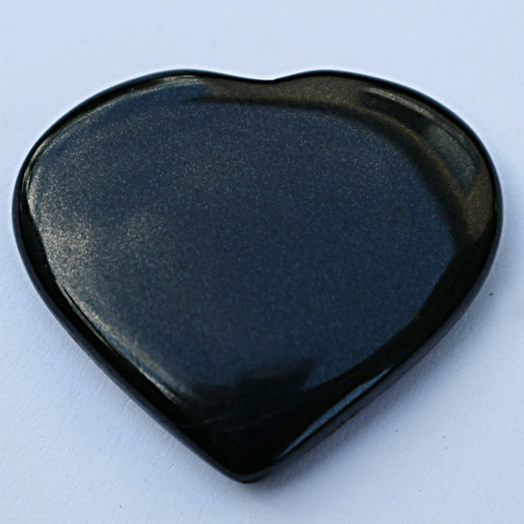 Black Agate Puffy Hearts - little-gems-metaphysical-store
