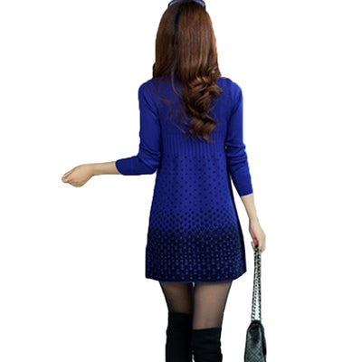 2017 New Style Women Knitted Dresses Spring Autumn Mini Sweater Dress Female Elegant Slim Vestidos Sweater and Pullovers AB028