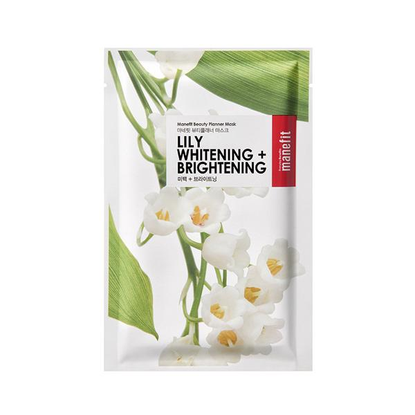 The Skin Nutrition Bar - Best of Korean Beauty in The Netherlands Manefit Lily Whitening + Brightening Sheet Mask