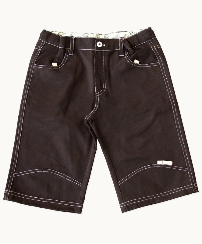 Chocolate Cotton Shorts - Visible.Clothing