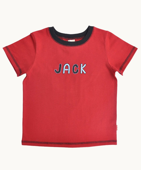 Red Named Cotton T-Shirt - Visible.Clothing