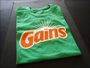GAINS T-Shirt in Kelly Green