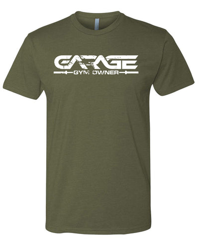 Garage Gym Owner T-Shirt - Olive Drab with White