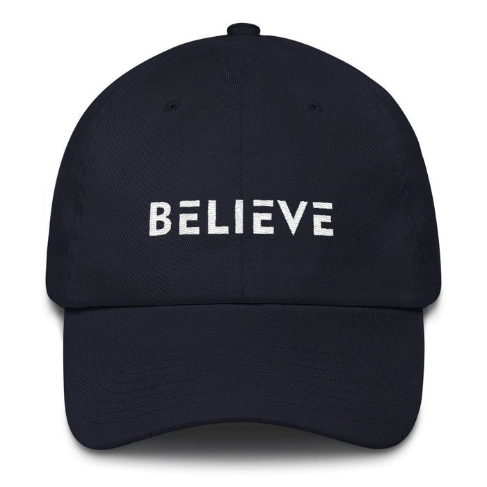 Believe Adjustable Cotton Baseball Cap (Dad Hat) - One-size / Navy - Hats