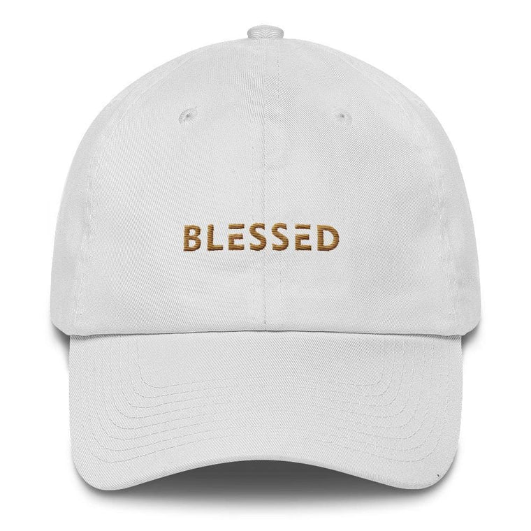 Blessed Dad Hat Embroidered in Gold Thread