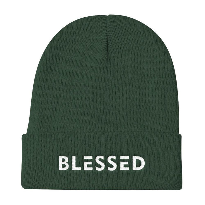 Blessed Knit Beanie - One-size / Dark green - Hats