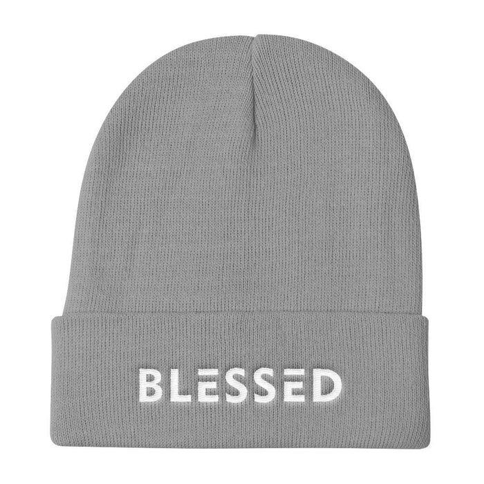 Blessed Knit Beanie - One-size / Gray - Hats