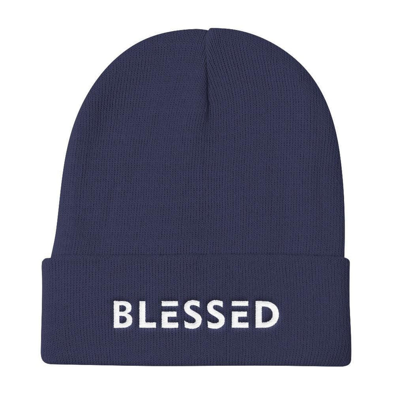 Blessed Knit Beanie - One-size / Navy - Hats