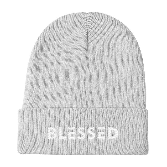 Blessed Knit Beanie - One-size / White - Hats