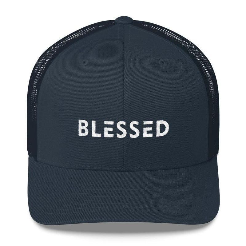 Blessed Snapback Trucker Hat - One-size / Navy - Hats