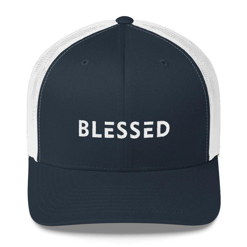 Blessed Snapback Trucker Hat - One-size / Navy/ White - Hats