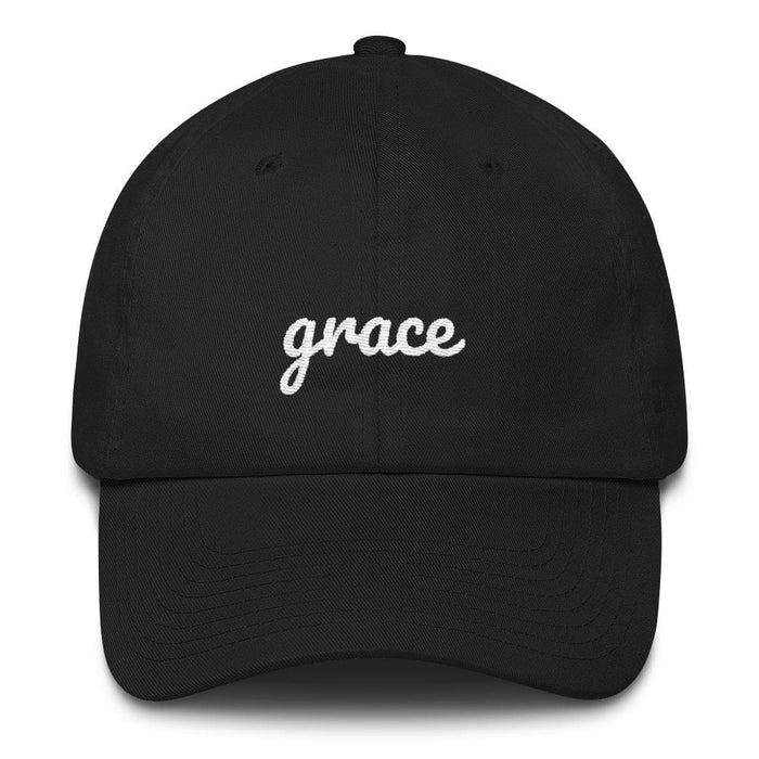 Grace Scribble Christian Adjustable Cotton Baseball Cap - One-size / Black - Hats