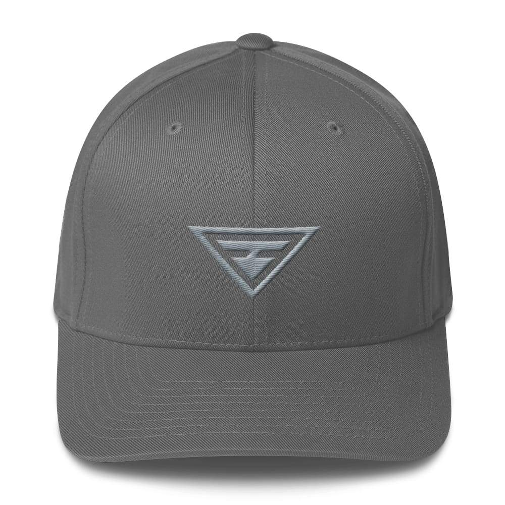 Hero Grey On Grey Fitted Flexfit Twill Baseball Hat - S/m / Grey - Hats