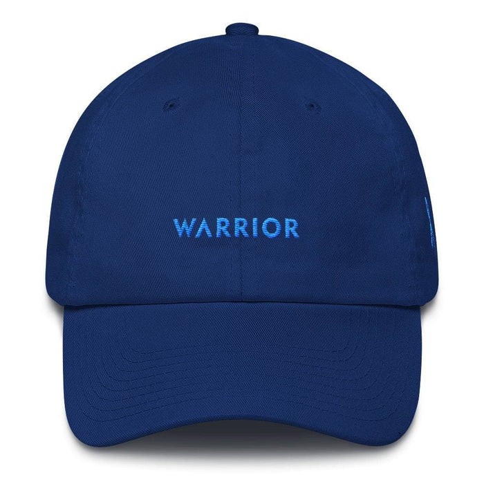 Prostate Cancer Awareness Warrior Dad Hat with Light Blue Ribbon - One-size / Royal Blue - Hats