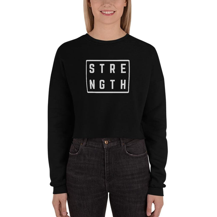 Women's Strength Crewneck Crop Sweatshirt