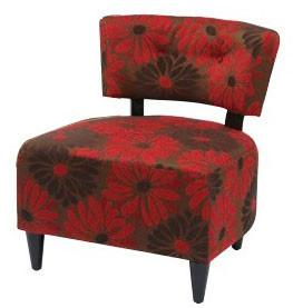 Office Star Ave Six BLV-G14 Boulevard Chair in Groovy Red - Peazz Furniture