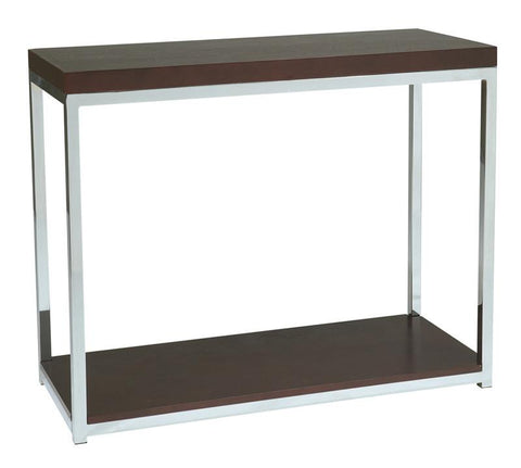 Office Star Ave Six WST07 Wall Street Foyer Table in Espresso - Peazz Furniture