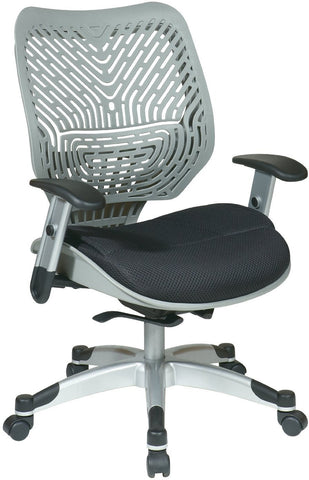 Office Star Space Seating 86-M34C625R Unique Self Adjusting SpaceFlex® Fog Back and Raven Mesh Seat Managers Chair - Peazz Furniture