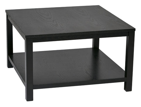 "Ave Six MRG12SR1-BK Merge 30"" Square Coffee Table Black Finish - Peazz Furniture"