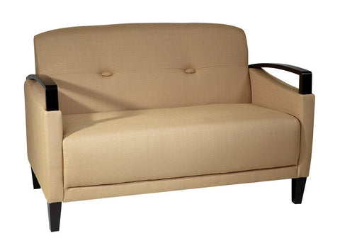 Office Star Ave Six MST52-C28 Main Street Loveseat in Woven Wheat - Peazz Furniture