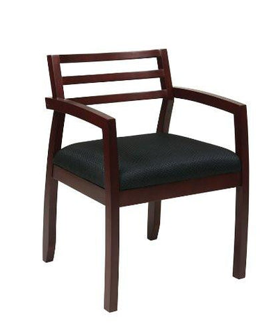 OSP Furniture NAP91MAH-3 Napa Mahogany Guest Chair With Wood Back (1-Pack) - Peazz.com