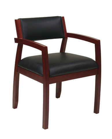 OSP Furniture NAP95CHY-3 Napa Cherry Guest Chair With Upholstered Back (1-Pack) - Peazz.com