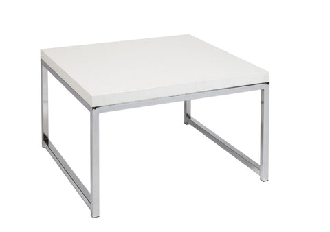 "Office Star Ave Six WST17-WH Wall Street 28"" Accent/Corner Table in White - Peazz Furniture"