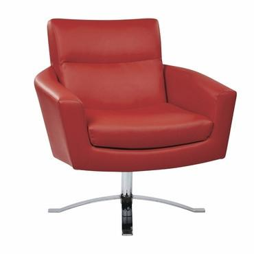 Ave Six NVA51-U9 Nova Chair With Red Faux Leather By Ave 6 - Peazz Furniture