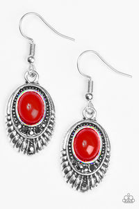 "Paparazzi ""Look HUEs Talking!"" Red Bead Hematite Rhinestone Earrings Paparazzi Jewelry"