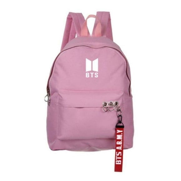 Bts A.r.m.y Official Logo Backpack - Pink Backpack White Logo - Bags