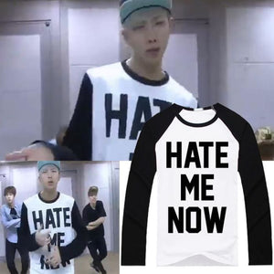 Bts Rm Hate Me Now Sweatshirt - Sweatshirts