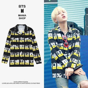Bts Suga Cavemempt Shirt - S / Yellow - Bangtan Fashion