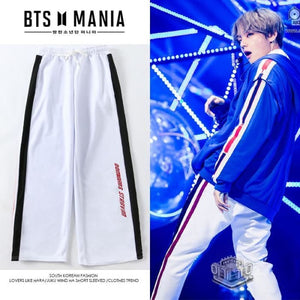 Bts Taehyung V Dna Mv Pant - White / S - Bangtan Fashion