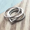Square Stacking Ring | Silver Jewellery | Eco Friendly Jewellery Australia