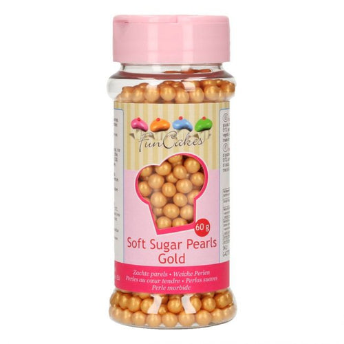 FunCakes Soft Pearls Gold Sprinkles 60g