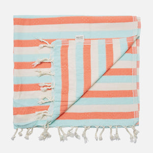 Reef Turkish Towel - Mint/Coral