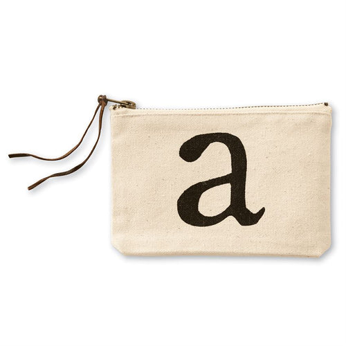 Canvas Pouch with Initials