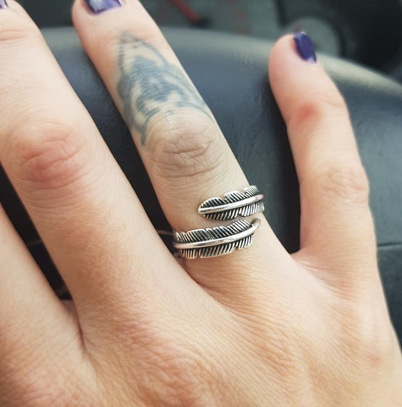 Silver Feather Ring 💍💎