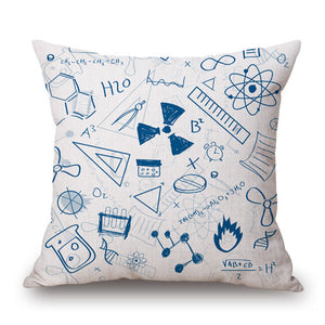 Science Chemistry Throw Pillow Cover 18''