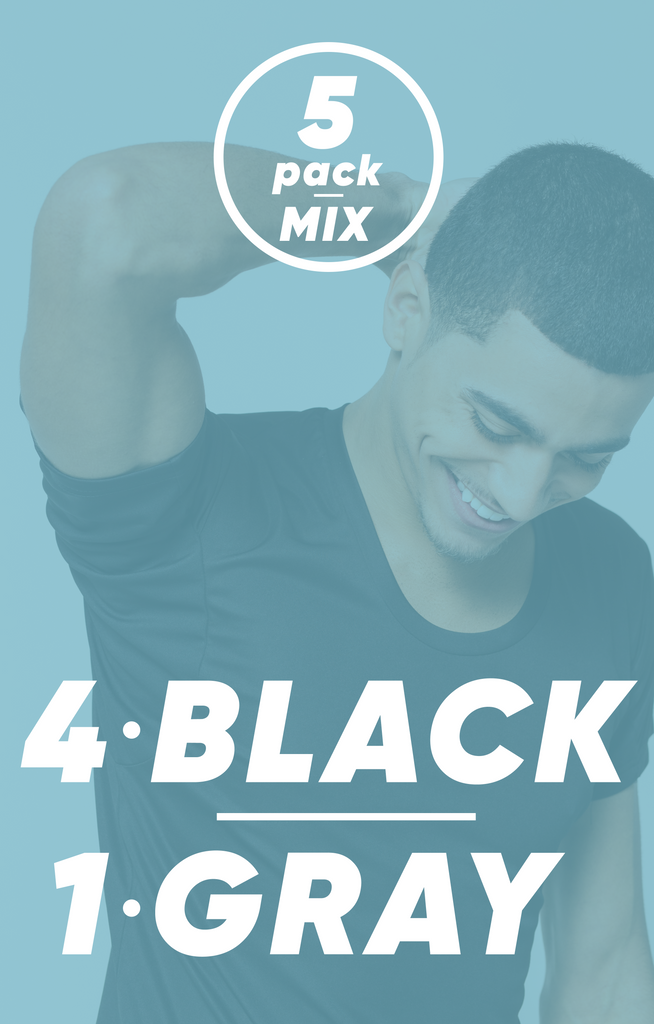 5-Pack Mix - 4 Black, 1 Gray | Bundle