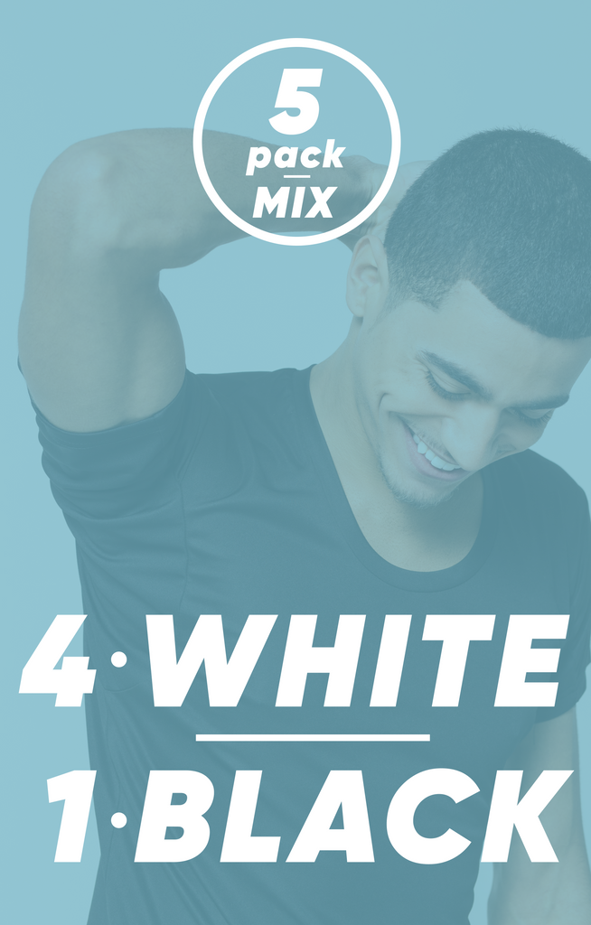 5-Pack Mix - 4 White, 1 Black | Bundle