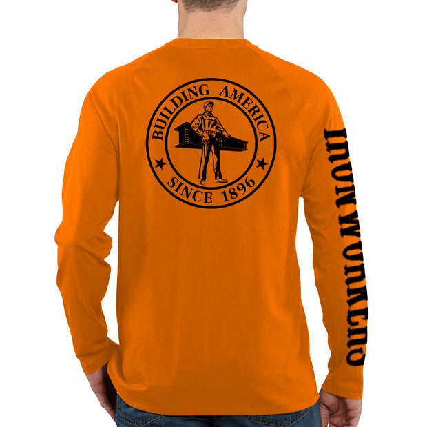 Ironworker  Stamp - Orange Long Sleeve