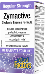 Natural Factors, Zymactive® Regular Strength, 90 Enteric Coated Tablets