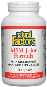 Natural Factors, MSM Joint Formula with glucosamine & chondroitin sulfates, 240 cap