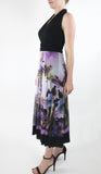 HOPE Midi Sleeveless Print Cummerbund Dress