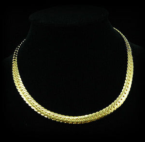 Mens Hip Hop 18K Gold Plated Links Necklace Chain MN005