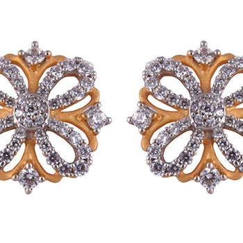 Khimji Gold Earrings- KD/ER-0033
