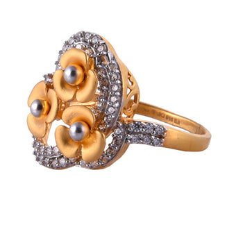 Khimji Gold Ring - KD-LRCST-0017